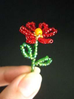 Поделка из бисера для начинающих цветы 92